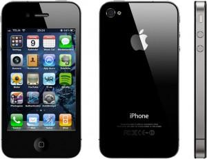 Iphone 4 med screenshot från min egen mobil