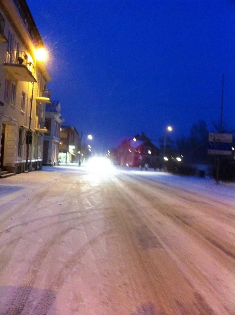 Första snön i Säffle 9 nov 2010 kl 18:10