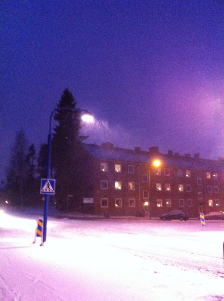 Första snön i Säffle 9 nov 2010 kl 18:11